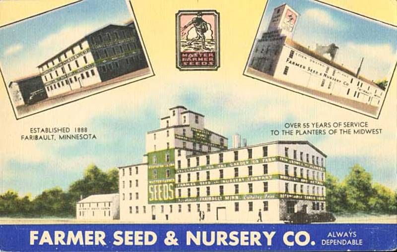 Farmer Seed Nursery Postcard 1944