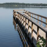 Image of the wooden fishing pier