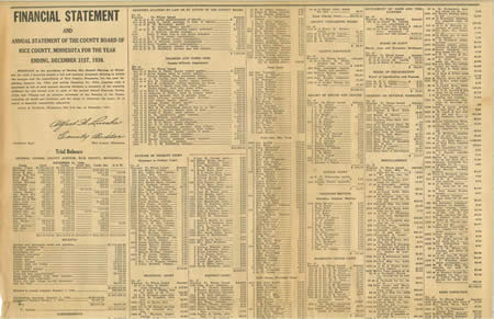 Newspaper clipping of a list of Financial Statements - Wednesday, February 18, 1931