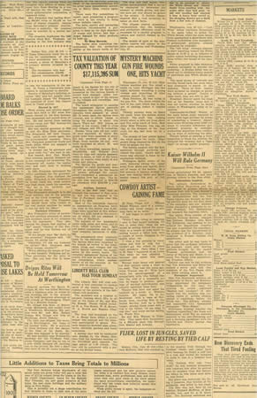 Newspaper clipping, blurry, with Tax Valuation - Monday, July 25, 1932