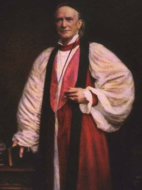 Image of the portrait of Bishop Henry Benjamin Whipple standing in robe