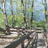 Image of the wooden stair trail to Union Lake